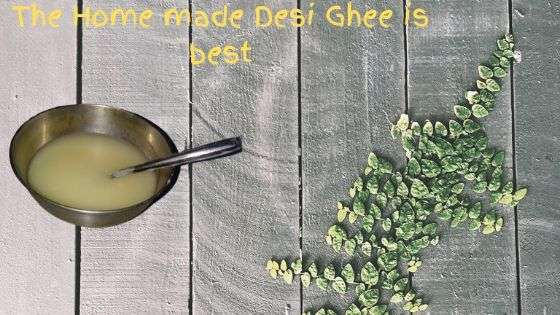 Home made desi ghee